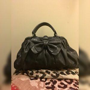 Jessica Simpson pleated bow handbag